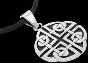 Celtic Jewelry - Sterling Silver Pendants PE C 74 - Celtic Clover