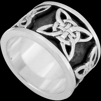 Celtic Jewelry - .925 Sterling Silver Rings - Celtic Braid Bands CR508