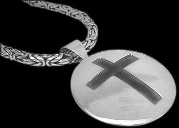 Religious Chokers - .925 Sterling Silver Necklaces CM901