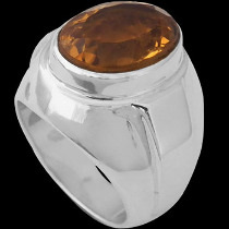 Men's Jewelry - Citrine and .925 Sterling Silver Ring R977CIT