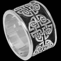 Celtic Jewelry - .925 Sterling Silver Celtic Clover Rings Celtic RI C74