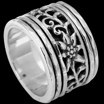 Silver Jewelry - .925 Sterling Silver Spinning Rings R1185