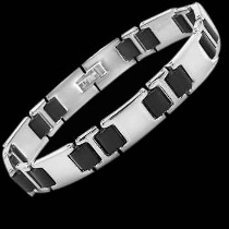 Men's Jewellery - Rubber, Stainless Steel Bracelets ST202