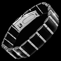 Men's Jewellery - Rubber, Stainless Steel Bracelets ST204