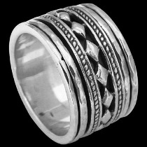 Silver Jewelry - .925 Sterling Silver Spinning Rings R1184