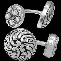 Silver Jewelry - .925 Sterling Silver Cuff Links C128