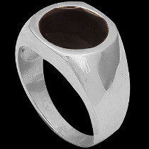 Men's Jewelry - Faceted Black Onyx and .925 Sterling Silver Rings R1072