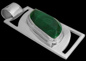 Father's Day Jewelry Gift - Malachite and .925 Sterling Silver Pendant MP086mal
