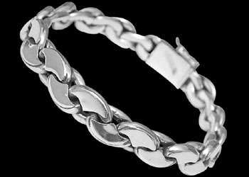 Mens Jewelry - .925 Stelring Silver Bracelets B464 - 8mm - Security Clasp