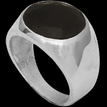 Men's Jewelry - Faceted Black Onyx and .925 Sterling Silver Rings R1070
