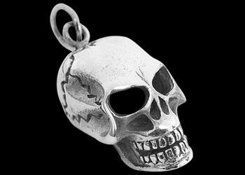 Gothic Jewelry - .925 Sterling Silver Skull Pendants P768-153