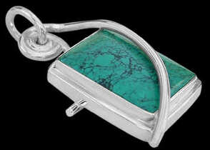 Turquoise and Sterling Silver Pendant MP053