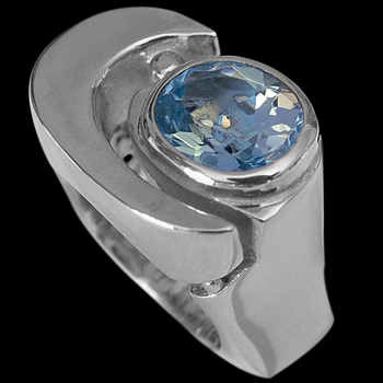 Men's Jewelry - Topaz and .925 Sterling Silver Rings MR1178tp
