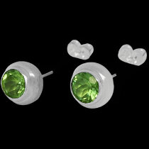 Peridot and .925 Sterling Silver Earrings E330