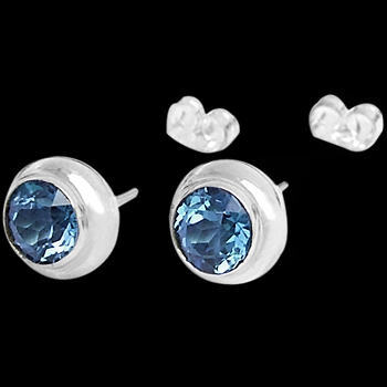 Bridesmaids Jewelry - Topaz and Sterling Silver Earrings E330
