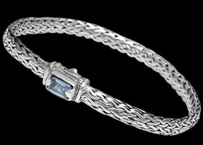 Blue Topaz and Sterling Silver Bracelets B1802bt