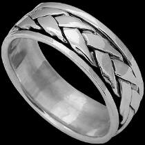 Celtic Jewelry - .925 Sterling Silver Rings - Thick Woven Celtic Braid Band R344