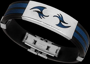 Men's Jewellery - Blue Resin, Stainless Steel Bracelets ST2333