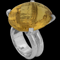 Citrine and Sterling Silver Rings R-624-2