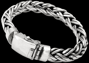 Sterling Silver Bracelets B590C - 14mm - Security Clasp