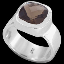 Smokey Quartz and Sterling Silver Rings R-540-4
