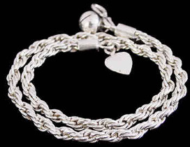 .925 Sterling Silver Anklets B613B
