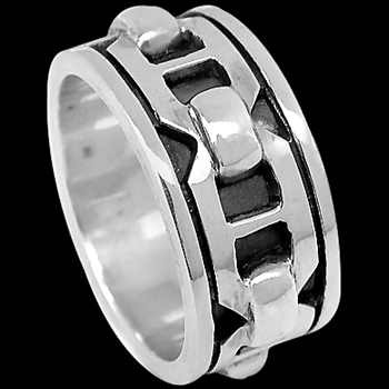 Silver Wedding Bands - Sterling Silver Meditation Rings R1-10208