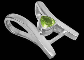 Bridal Gift - Peridot and Sterling Silver Pendants MP013pr