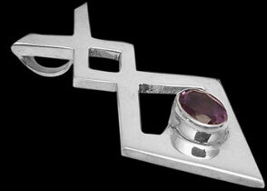 Amethyst and Sterling Silver Pendants MP010A