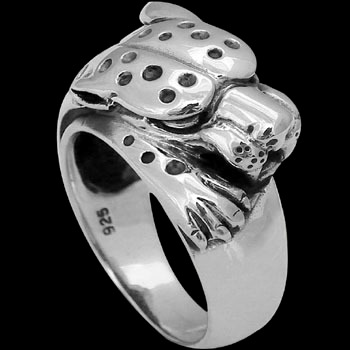 .925 Sterling Silver Cheetah Tiger Ring R555