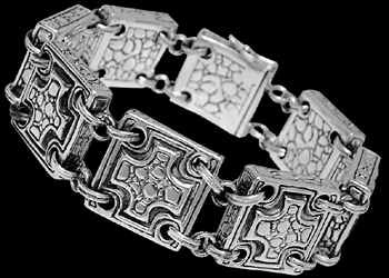 Gothic Jewelry - .925 Sterling Silver Bracelets B6016 - Security Clasp - 18mm