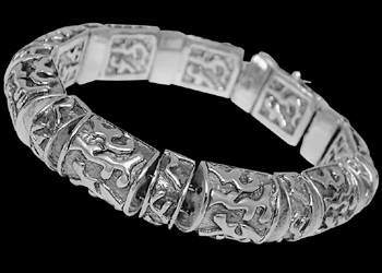 Father's Day Jewelry Gift - Sterling Silver Bracelets B1561 - Security Clasp