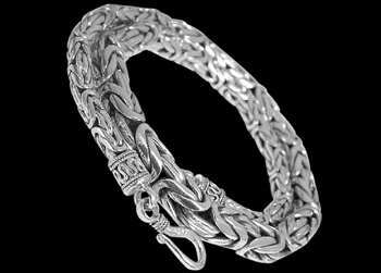 Men's Jewelry - .925 Sterling Silver Necklaces N131H - Hook Clasp