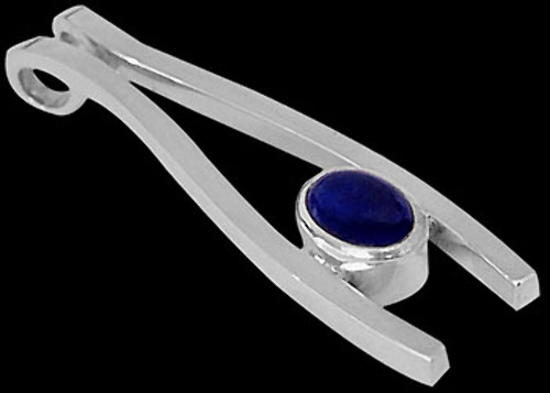 Lapis Lazuli and Sterling Silver Pendants MP09lap