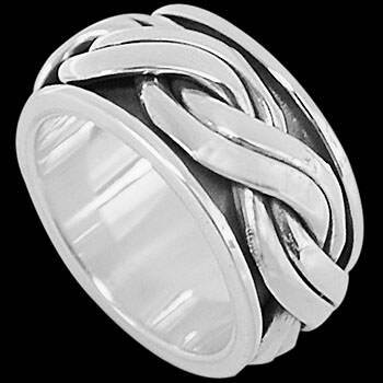 Celtic Jewelry - .925 Sterling Silver Rings - Celtic Braid Bands CR660