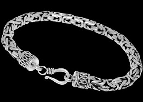 Plus Size Jewelry - .925 Sterling Silver Bracelets B04LH - 6mm - Hook Clasp