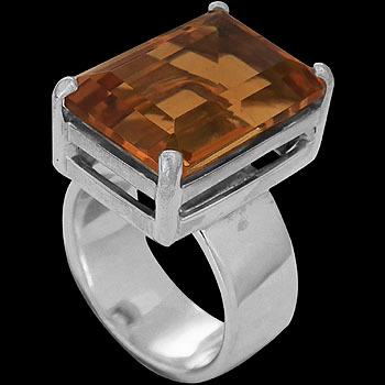 Citrine and .925 Sterling Silver Ring R9449
