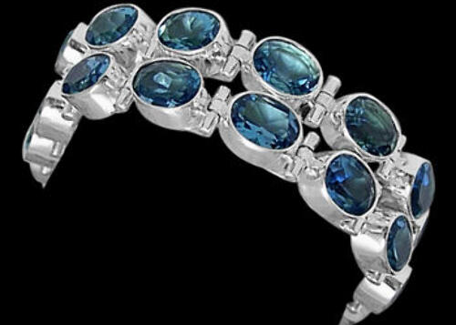 Bridal Gift - Topaz and Sterling Silver Chokers MC5
