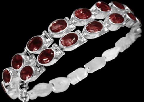 Bridal Gift - Garnet and Sterling Silver Chokers MC5