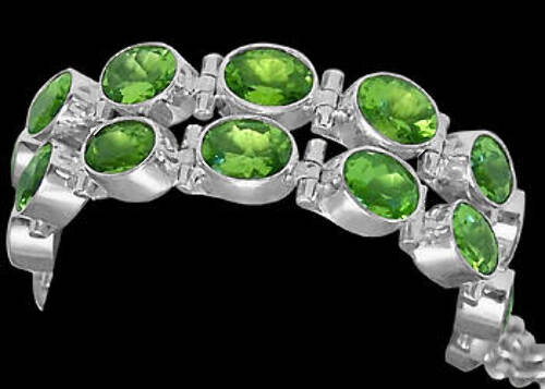 Bridal Gift - Peridot and Sterling Silver Chokers MC5