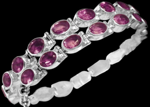 Bridal Gift - Amethyst and Sterling Silver Chokers MC5
