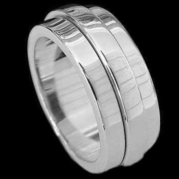 Plus Size Jewelry - Sterling Silver Rings Spinning AZ170L - Plus Sizes