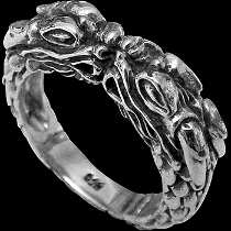Gangster Jewelry - .925 Sterling Silver Rings CR650 - 'Naga' Dragon Bands
