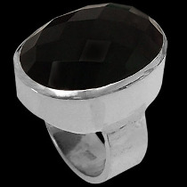 Silver Jewelry - Onyx and Sterling Silver Rings R-540onyx