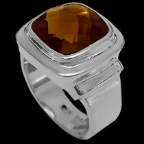 Whiskey Quartz and Sterling Silver Rings R-1100whisk