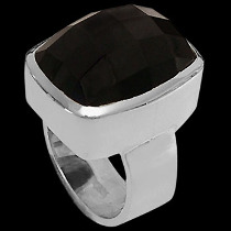 Onyx and Sterling Silver Rings R-540onyx - Rectangular