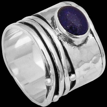 Men's Jewelry - Lapis Lazuli and .925 Sterling Silver Rings R035lap