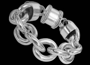 Womens Jewelry - Sterling Silver Bracelets B737BC - Barrel Clasp - 30mm