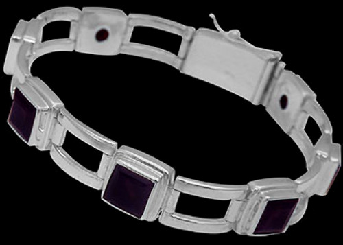 Amethyst and Sterling Silver Bracelets B016aamy