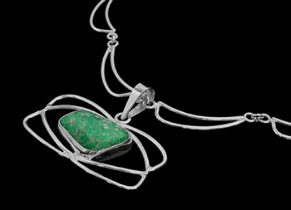 Women's Jewellery - Amazonite Sterling Silver Pendant 1